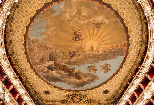 Leinwanddruck Bild Teatro San Carlo, Naples opera house, Italy
