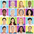 Illustration of Multiethnic People Isolated
