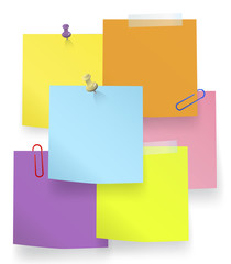 Vector of Multi-Colored Sticky Notes