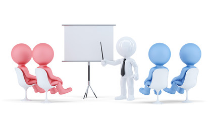 People at conference. Business concept Isolated. Clipping path