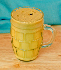 yellow mustard in a jar