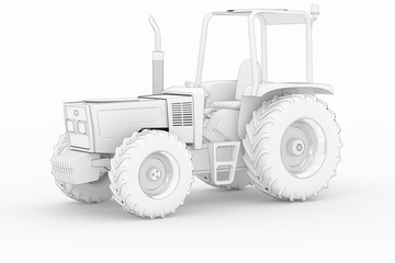 Tractor II - white isolated