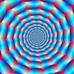 Blue and Red Spiral