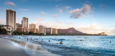 Waikiki Beach at sunset