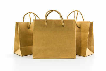 Blank brown paper bag.