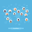 Social Communication Flat Icons