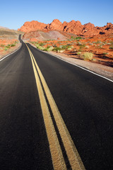 Road through Valley of Fire State Park