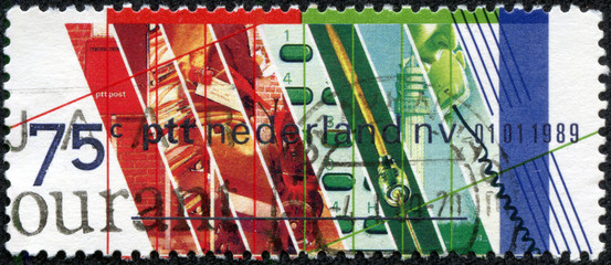 Stamp  honoring Privatization of Netherlands PTT
