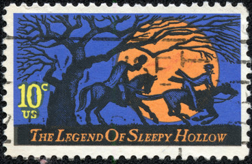 stamp printed in USA, Legend of Sleepy Hollow