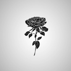 rose symbols, decorative vector illustration