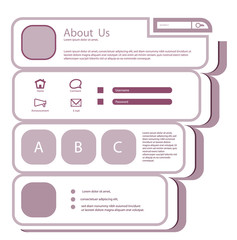Flat Web Design Template.