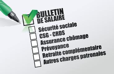 bulletin de salaire - salaire