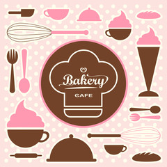Bakery set vector 0065
