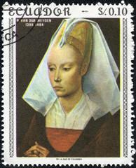 Portrait of young woman of Rogier van der Weyden