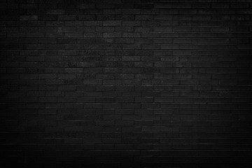 Black brick wall for background
