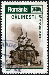 stamp printed by Romania, show church
