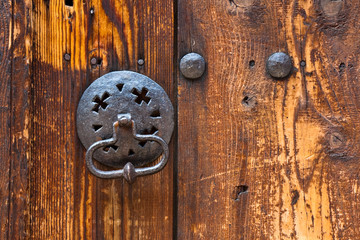 Old Knocker on a Traditional Bulgarian House