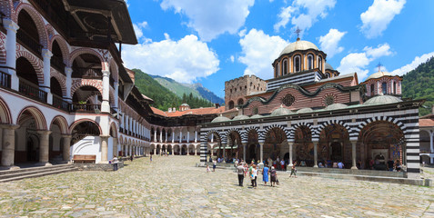 Rila Monastery Courtyard in Bulgaria