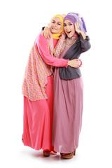 beautiful muslim girl friend together