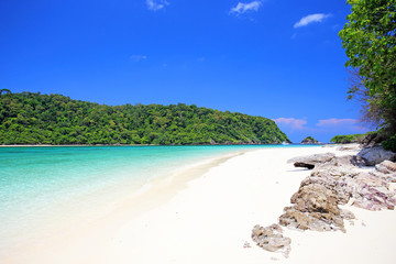 Tropical beach, Andaman Sea koh Rok Thailand