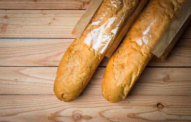 French bread on the table
