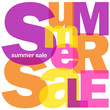 """SUMMER SALE"" Letter Collage (discounts marketing advertising)"