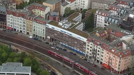 Regional train in Berlin Germany