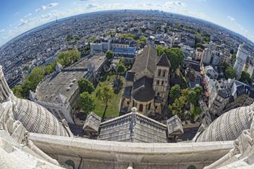 paris huge aerial view from montmatre
