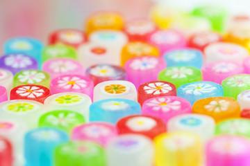 日本のカラフルな可愛い飴