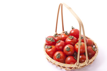 tomatoes served in a basket