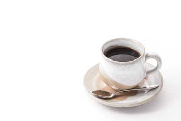 coffee cup of Japanese-style pottery
