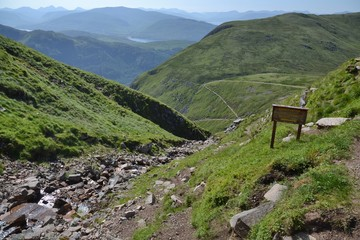 Path to Ben Nevis - the highest mountain in UK