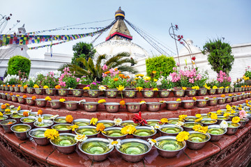 Festival at Bodhnath stupa