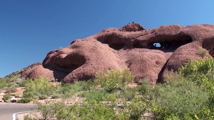 Hole in the Rock at Papago Park. Phoenix, Arizona, USA.
