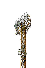 steel tower Stadium lights isolated