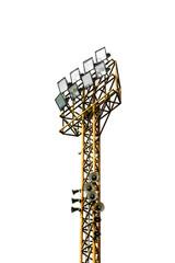 steel tower Stadium lights isolated