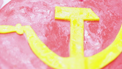 Cake with hammer and sickle