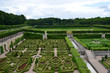 Garden and Chateau de Villandry in Loire Valley in France