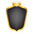 black shield and crown