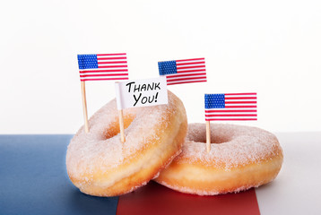 Donuts with Thank You Sign