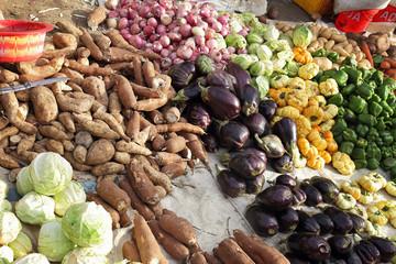 légumes sur marché africain