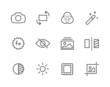 Outline Image Editing Icons - 65178754
