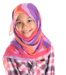 Young Asian Muslim girl with head scarf