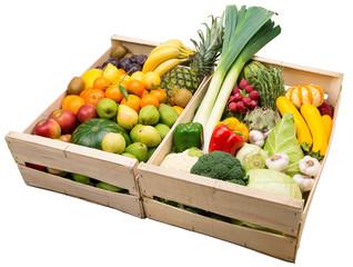 Obst und Gemüse in Holzkisten - 4468