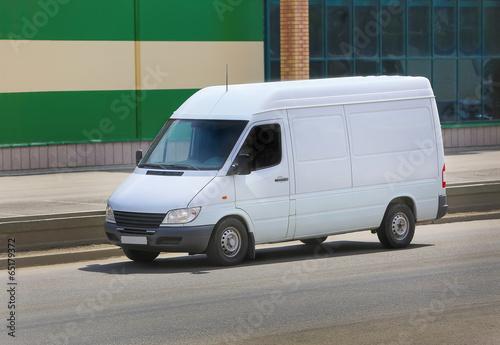 white van on the street - 65179372