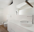 beautiful modern loft, white bathroom, sink