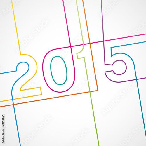 2015-carte de voeux de M.studio, Fichier vectoriel libre de droits.