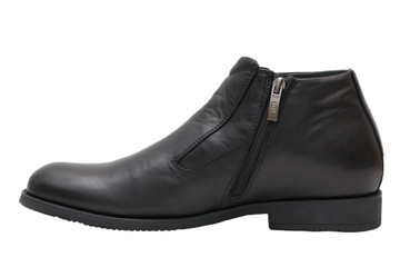 Winter black men's shoes