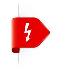 Lightning arrow - Roter Sticker Pfeil mit Schatten