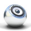 Silver spher speaker